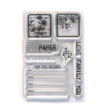 Paper Love Stamps. Elizabeth Craft Design