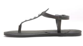 Universal Thread Women's Kylianne Vegan Summer Thong Sandals Black image 2