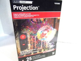 Gemmy LED Light Show Projection Multicolor Swirling Kaleidoscope Remote ... - $19.33