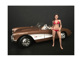 October Bikini Calendar Girl Figurine for 1/18 Scale Models by American ... - $17.14