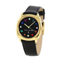 Marc Jacobs MJ1597 Mandy Gold-Tone and Black Leather  Ladies Watch - $202.99