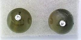 Labradorite Crystal 8mm Stud Earrings 1 - $8.04
