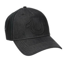 True Religion Men's Raised Horseshoe Logo Baseball Hat Sports Strapback Cap image 6