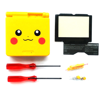 DIY Replacement Housing Shell Case Pikachu Cover Nintendo GBA SP Gameboy Advance