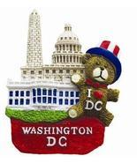 3D I Heart Washington DC Teddy Bear, Washington Monument, U.S Capitol & ... - $7.99