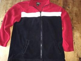 Ralph Lauren Mens Medium M fleece zip jackets black red white LRL Exc Co... - $14.24
