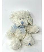 Russ Baby White Blue Plush Teddy Bear Christening Newborn Gift Soft Mini... - $10.99