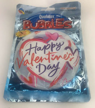 """Happy Valentines Day Heart Qualatex 22"""" Bubble Balloon, Look Valentines Day - $5.13"""