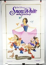 "Snow White & the Seven Dwarfs 50th Movie Poster 41""x27"" Original Rolled Ship image 1"