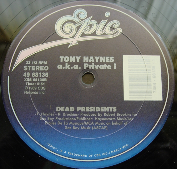 "Tony Haynes - I'll Still Respect You in the Morning - Epic 49 68136 - 12"" Single"