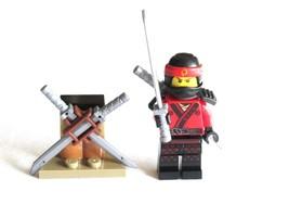 LEGO Ninjago Movie Spinjitzu Training Red Ninja Kai Minifigure 70606 Weapon Rack - $6.99