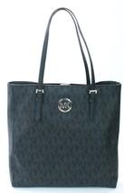 Michael Kors Jet Set Black Monogram PVC Coated Canvas Tote Bag Handbag - $283.75