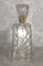 Seagram's Clear Glass Wine Liquor Decanter With Stopper Vintage Federal ... - $18.55
