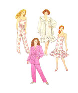 Vintage Simplicity Sewing Pattern 9420 Misses Pajamas Robe Nightgown XS-... - $9.95