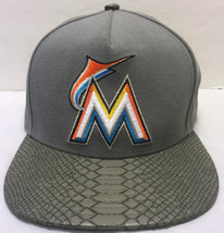 Florida Marlins 9Fifty Gray Snake Baseball Cap Size Medium-Large MLB Strap Hat - $32.46
