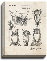 Double-faced Scare-bird Owl Patent Print Old Look on Canvas - $39.95+