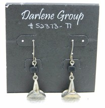 Vintage Halloween Silver Tone Witches Hat Darlene Group Dangle Earrings NOS - $13.86