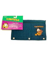 Garfield PAWS Aqua Nylon Mead Zipper Pencil Pouch Kids Back to School Su... - $8.95