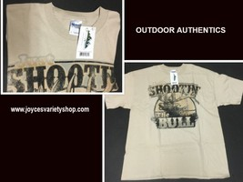 SHOOTIN THE BULL TShirt Outdoor Authentics Hunting Various Sizes NWT - $10.99