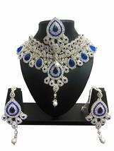 Bollywood Indian Ethnic Rose Gold Finish Choker Necklace Wedding Jewelry Fashion - $36.99
