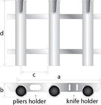 SeaSense Single Piece 3 Rack Rod Holder, White, New, Free Shipping - $28.89