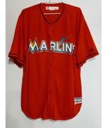 XL Majestic Baseball Jersey Miami Florida Marlins Orange Cool Base, Blan... - $39.55