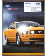2007 Ford Mustang Brochure Shelby GT 500 Convertible Coupe Excellent Ori... - $14.84
