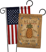 Welcome Sweet Pineapple - Impressions Decorative USA - Applique Garden F... - $30.97