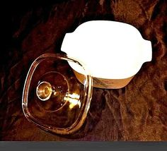 Vintage Corning Ware2 Piece Serving Dish and Lid AB 249-B image 3