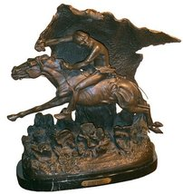 Artistic Solutions Horsethief American Bronze Handmade Sculpture By Frederic Rem - $1,068.19