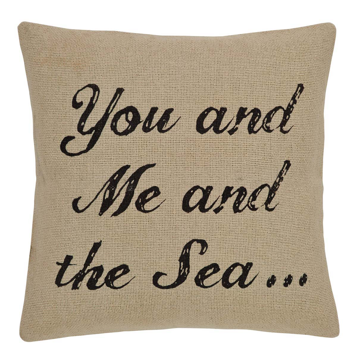 "You and Me and Sea Pillow w/Down Fill - 18""x18"" - VHC Brands - Country Nautical"