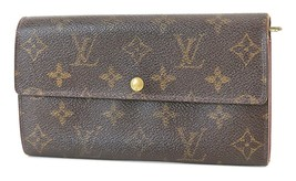 Authentic LOUIS VUITTON Sarah Long Wallet Monogram Zippered Coin Purse #... - $149.00