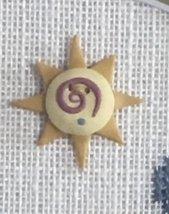 Swirly Sun Button With Free Ewe Are My Sunshine Chart Shepherd's Bush - $8.00