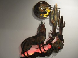 Coyote Howling at the Moon/Arizona Sunset Piece by HGMW - $277.19