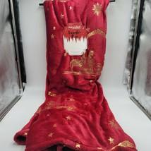 Christmas Throw Blanket Nativity Religious Scene Adirondack by Berkshire Plush - $37.95