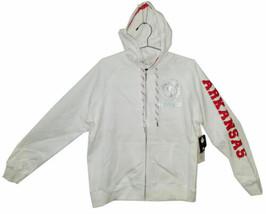 Arkansas Razorbacks Full Zip Hoodie Jacket w/ Bling, White, Small - $15.14