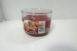 Mainstays Apple Pumpkin 3 Wick Candle 11.5 Oz New Never Used - $7.43