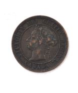 1890 H 1c Canada Large One Cent Penny KM#7  Bronze  - $19.79