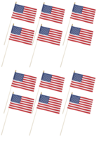 "12~ USE8D Valley Forge Stick Flag 8""x12"" Polycotton United States US Ame... - $27.99"
