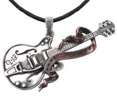 Large Gretsch Guitar Pendant Rock n Roll Musician Guitarist ULP35 Alchem... - $39.95