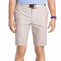 IZOD Men's Shorts Newport Oxford Size 36 Cedar Wood Khaki Flat Front 9.5... - $24.74