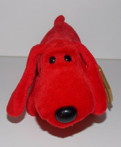Ty Beanie Baby Red Rover Plush 7in Dog Stuffed Animal Retired with Tag 1996 - $9.99