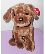 Ty Classic Harley Puppy Dog Chocolate Brown Plush Stuffed Animal 2017 Soft - $11.76