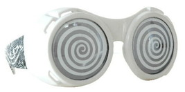 SteamPunk Cosplay White Hypno Goggles with Smoke Lenses, NEW UNUSED - $14.46