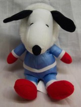 "Peanuts Cute Snoopy In Winter Outfit Snow Suit Rattle 8"" Plush Stuffed Animal - $15.35"