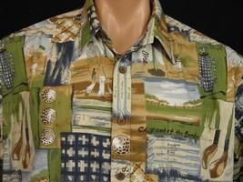 Cooke Street Hawaiian Camp Shirt Golf Print Mens L Golf Clubs Golf Balls... - $18.69