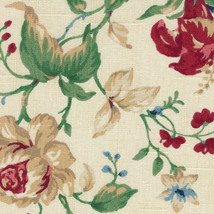 Longaberger Medium Berry Basket Heirloom Floral Drop In Fabric Liner Only - $7.87
