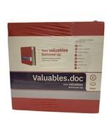 Valuables.doc Life Organizing Cataloging Kit Binder Valuables Buttoned U... - $14.84