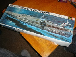 VINTAGE 1972 1/720 SCALE NUCLEAR CARRIER USS ENTERPRISE BY REVELL - $34.65
