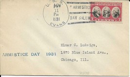 EVANS (DD-78) 11 Nov 1931 Locy Type 3s Armistice Day 1931 - $3.47